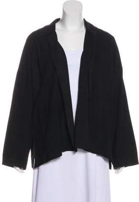 eskandar Open Front Leather Jacket