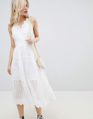 Glamorous Broderie Cami Midi Dress
