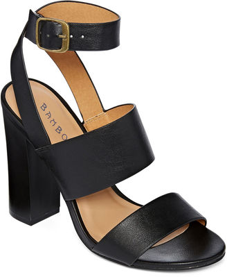 Bamboo Embark Chunky Ankle Strap Sandals $19.99 thestylecure.com