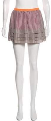 Geren Ford Silk Mini Skirt