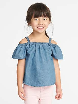 Old Navy Off-the-Shoulder Chambray Top for Toddler Girls