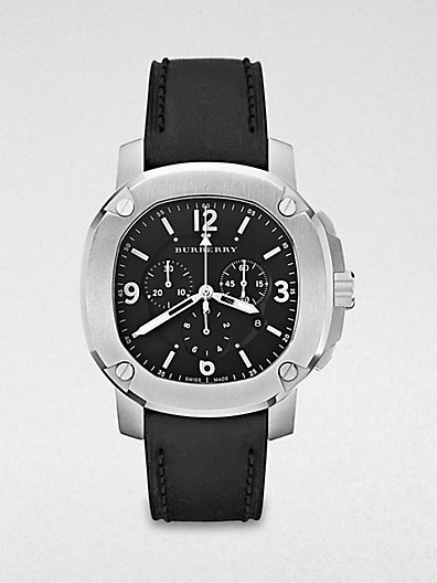 Burberry Britain Octagonal Stainless Steel Chronograph Watch