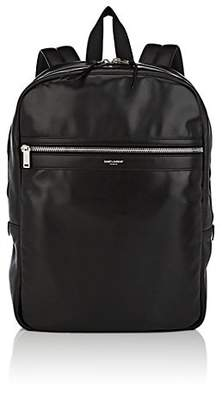 Saint Laurent Men's City Leather Backpack - Black