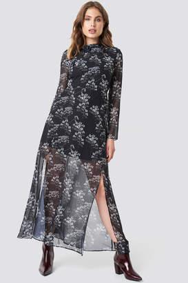 Trendyol Patterned Long Dress Black