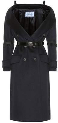 Wool, angora and cashmere coat