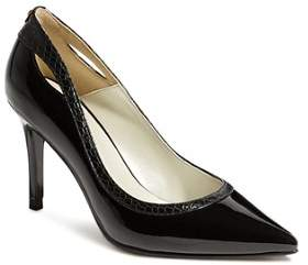 Karen Millen Women's Court Pointed Toe Cut-Out High-Heel Pumps