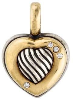David Yurman Diamond Cable Heart Pendant