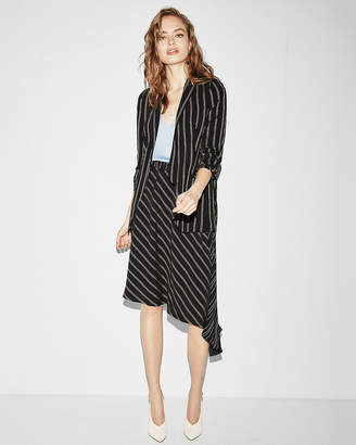 Express Multi Directional Stripe Asymmetrical Midi Skirt