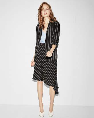 Express Multi Directional Stripe Asymmetrical Midi Skirt