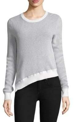 Joie Laurana Waffle-Knit Asymmetric Sweater