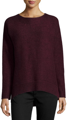 Philosophy Cashmere High-Low Jumper Sweater, Burgundy $199 thestylecure.com