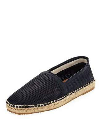 Giorgio Armani Men's Perforated Deerskin Leather Espadrille