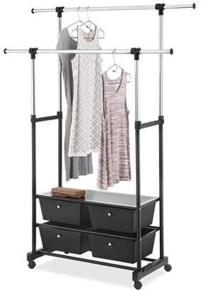 Whitmor Whitmor, Inc Double Garment Rack with Drawers