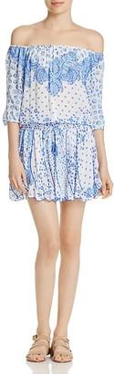 Poupette St. Barth Kila Off-The-Shoulder Dress $300 thestylecure.com