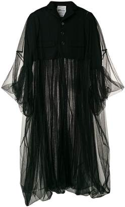 Comme des Garcons long chunky tulle coat