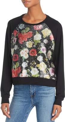 Terez Sequined Floral Sweatshirt