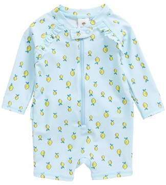 Tucker + Tate Lemon Print One-Piece Rashguard Swimsuit