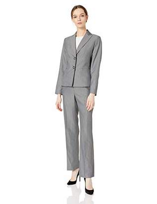Le Suit Women's 2 Button Peak Lapel Pant Suit