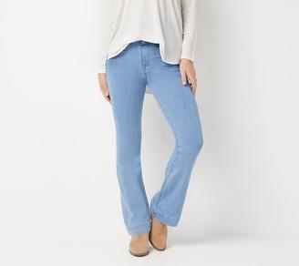 Laurie Felt Regular Silky Denim Flare Pull-On Jeans