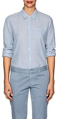 Nili Lotan Women's NL Striped Cotton Button-Front Shirt
