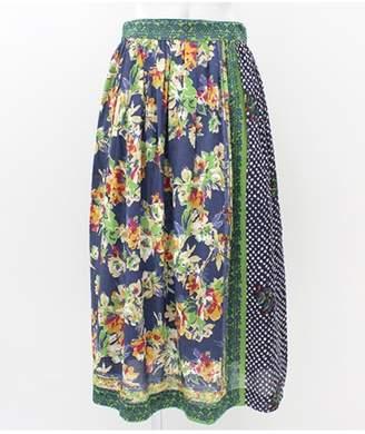 ANAP (アナップ) - アナップ [Alluge]スカーフパッチワーク風ギャザースカート