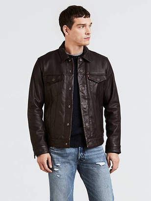 Levi's Leather Trucker Jacket
