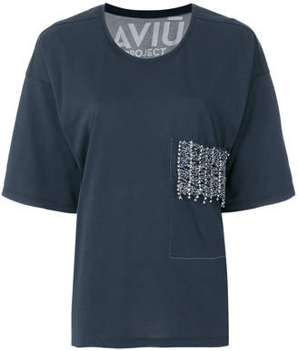 Aviu embellished pocket oversize T-shirt