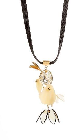 MarniWomen's Marni Horn Flower Pendant Necklace