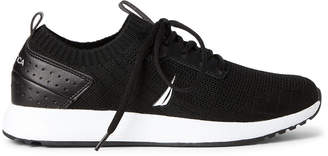 Nautica Black Rembold Knit Running Sneakers