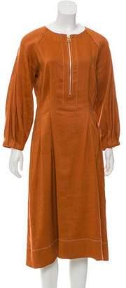 Veronica Beard Linen-Blend Midi Dress