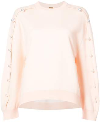 ADAM by Adam Lippes Pearl Accent Sweater