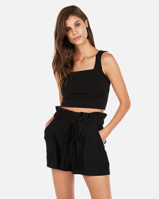 Express High Waisted Paperbag Tie Shorts