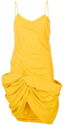 Jacquemus gathered twist-hem dress