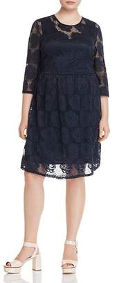 Junarose Plus Floral Lace Fit-and-Flare Dress
