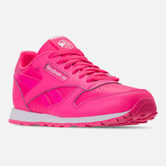 Reebok Girls' Grade School Classic Leather Girl Squad Casual Shoes