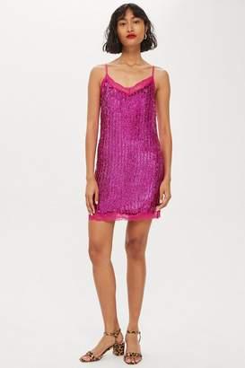 Topshop Sequin Slip Dress