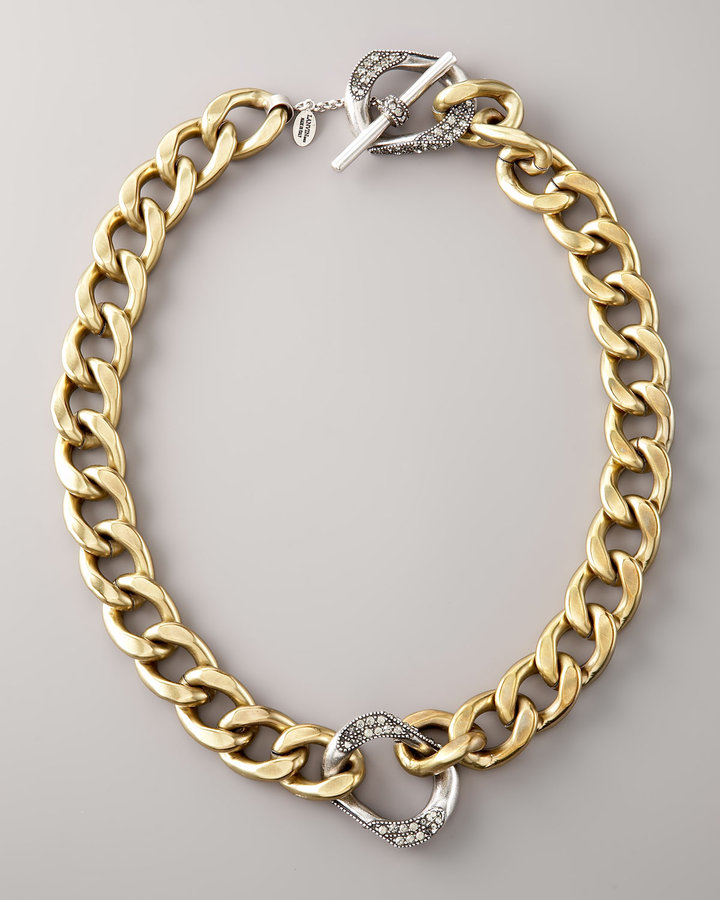 Lanvin Rhinestone Link Necklace