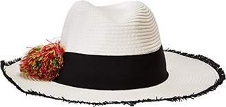 Betsey Johnson Women's Pom Girl Panama Hat