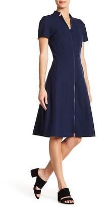 Lafayette 148 New York Briella Zip Front Fit & Flare Dress