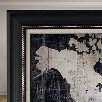 Mercury Row 'Old World Map Blue' Framed Graphic Art on Wrapped Canvas