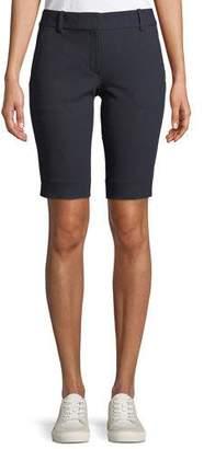 Theory Basic Pull-On Approach Twill Bermuda Shorts
