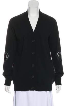 Christopher Kane Wool-Blend Embroidered Cardigan