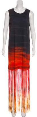 Raquel Allegra Fringe Maxi Dress w/ Tags