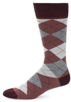 Saks Fifth Avenue Diamond Stretch Socks