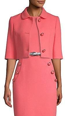 Michael Kors Women's Cropped Stretch Crepe Wool Jacket