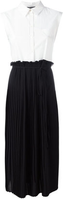 Twin-Set pleated shirt top dress $226.85 thestylecure.com
