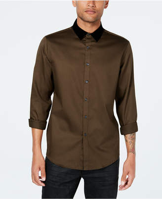INC International Concepts Inc Men's Velvet Collar Shirt, Created for Macy's