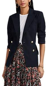 Derek Lam 10 Crosby Women's Rodeo Cotton Double-Breasted Blazer - Navy