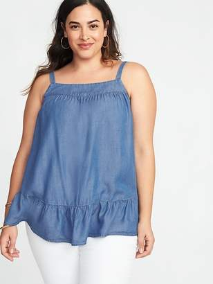 Old Navy Tiered Chambray Plus-Size Swing Cami