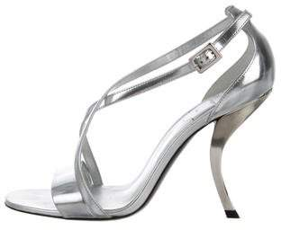 Roger Vivier Metallic Leather Sandals w/ Tags
